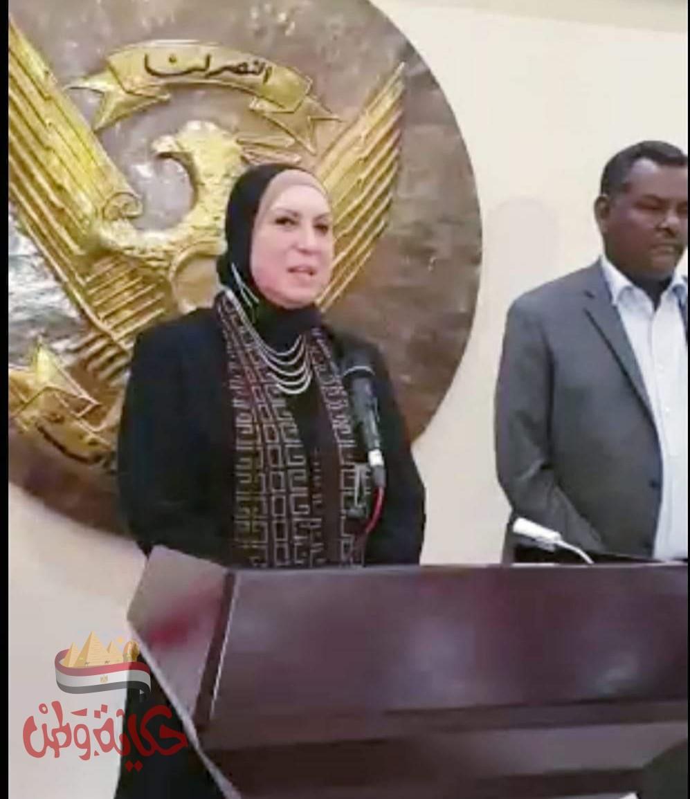 تصريحات وزيرة التجارة ونظيرها السودانى لوسائل الإعلام فور وصولها مطار الخرطوم